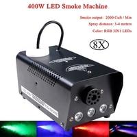 LED 400W Wireless Control Smoke Machine RGB Interlaced LED Fog Professional Stage DJ Lighting Effect For Disco Stage Perform