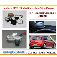 Auto Back UP Reverse Camera 4 3 Color LCD Monitor 2 In 1 Rearview Parking System
