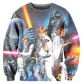 Женщины мужчины 3D звездные войны люк дарт вейдер галактика футболка потливость пуловер весна осень Crewneck топы кофты вязанные