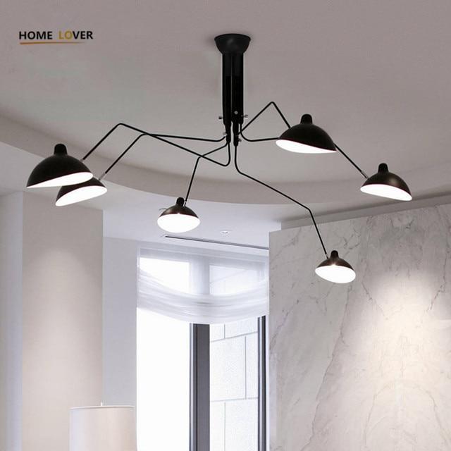 Woonkamer plafondlamp voor home verlichting Zwart 3/6 Lights ...