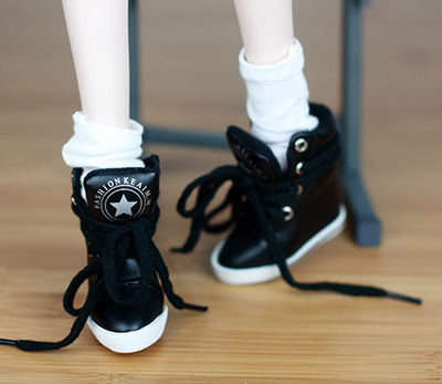 BJD  doll shoes Doll accessories  black  shoes  1/3 SD16girl DD DY 1pair new fashion sd bjd doll accessories casual shoes for bjd doll 1 4 1 3