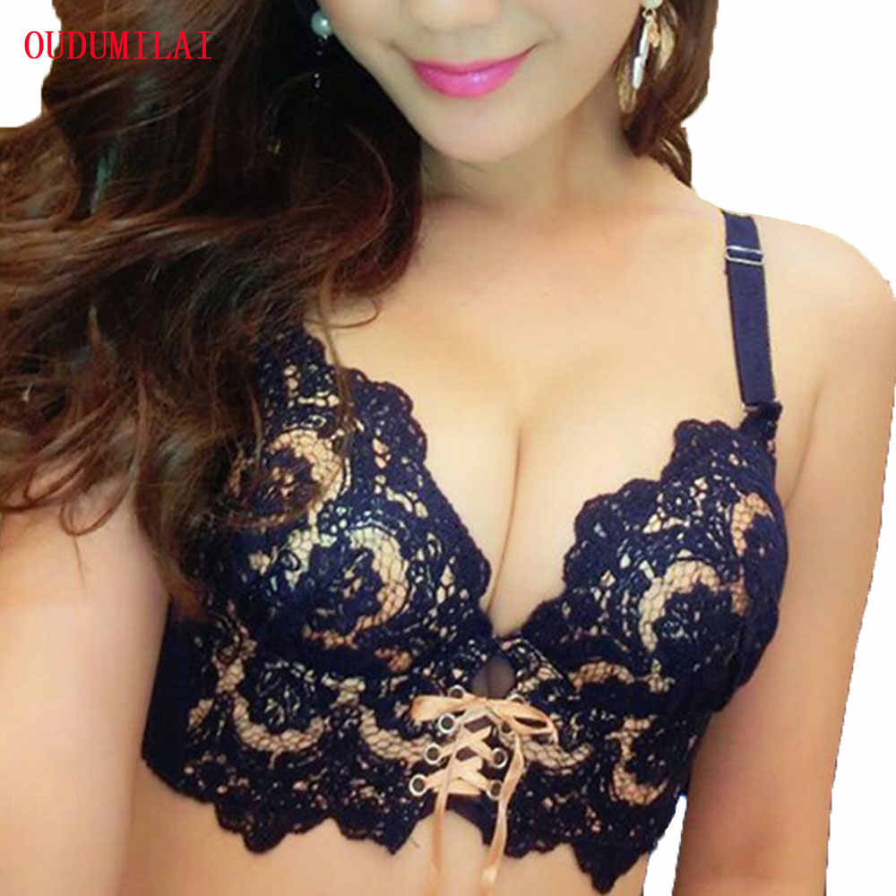 Detail Feedback Questions about OUDOMILAI 2018 Hot Padded Push Up Bra Set  Sexy Lace Japanese Young Women Underwear Set Embroidery Bra Panty Small  Chest ... f486df59b