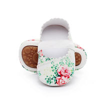 Infant Toddler Baby Girl Soft Sole Crib Shoes Leather Floral Print Anti-slip Sneaker Newborn Casual Shoes(China)