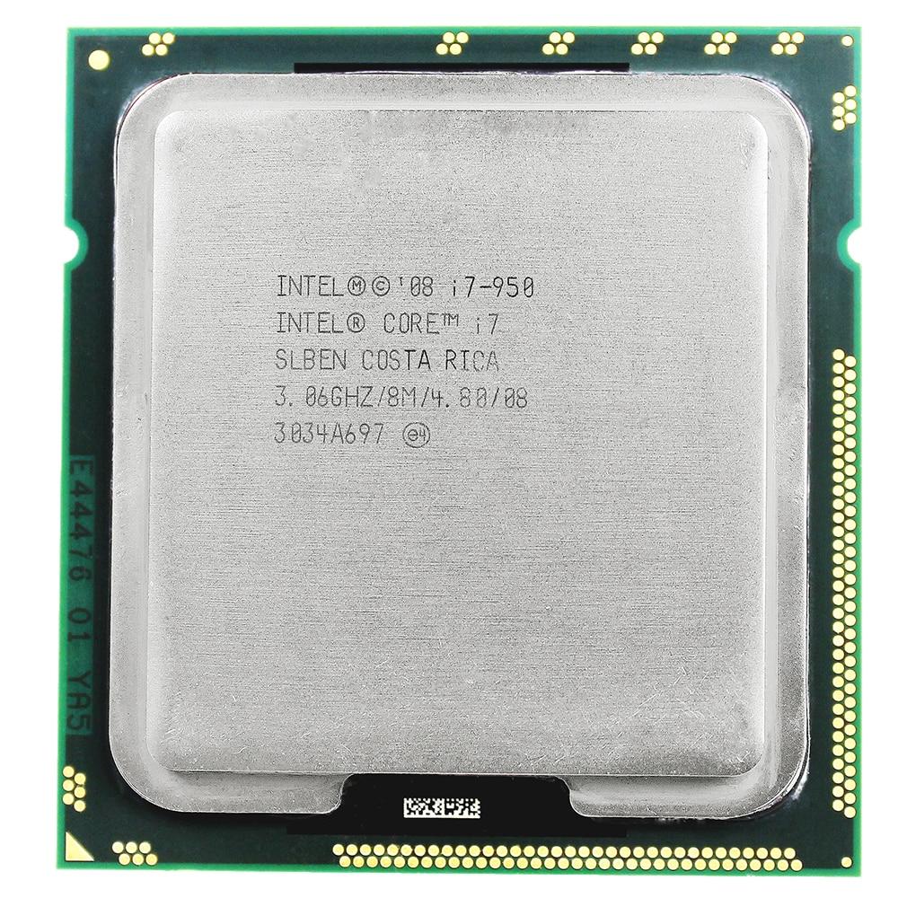 intel core i7 950 INTEL i7-950 intel core I7 950 Processor 3.06GHz Quad Core LGA 1366 processor Desktop CPU warranty 1 year intel intel core i7 5820k haswell e 3300 6