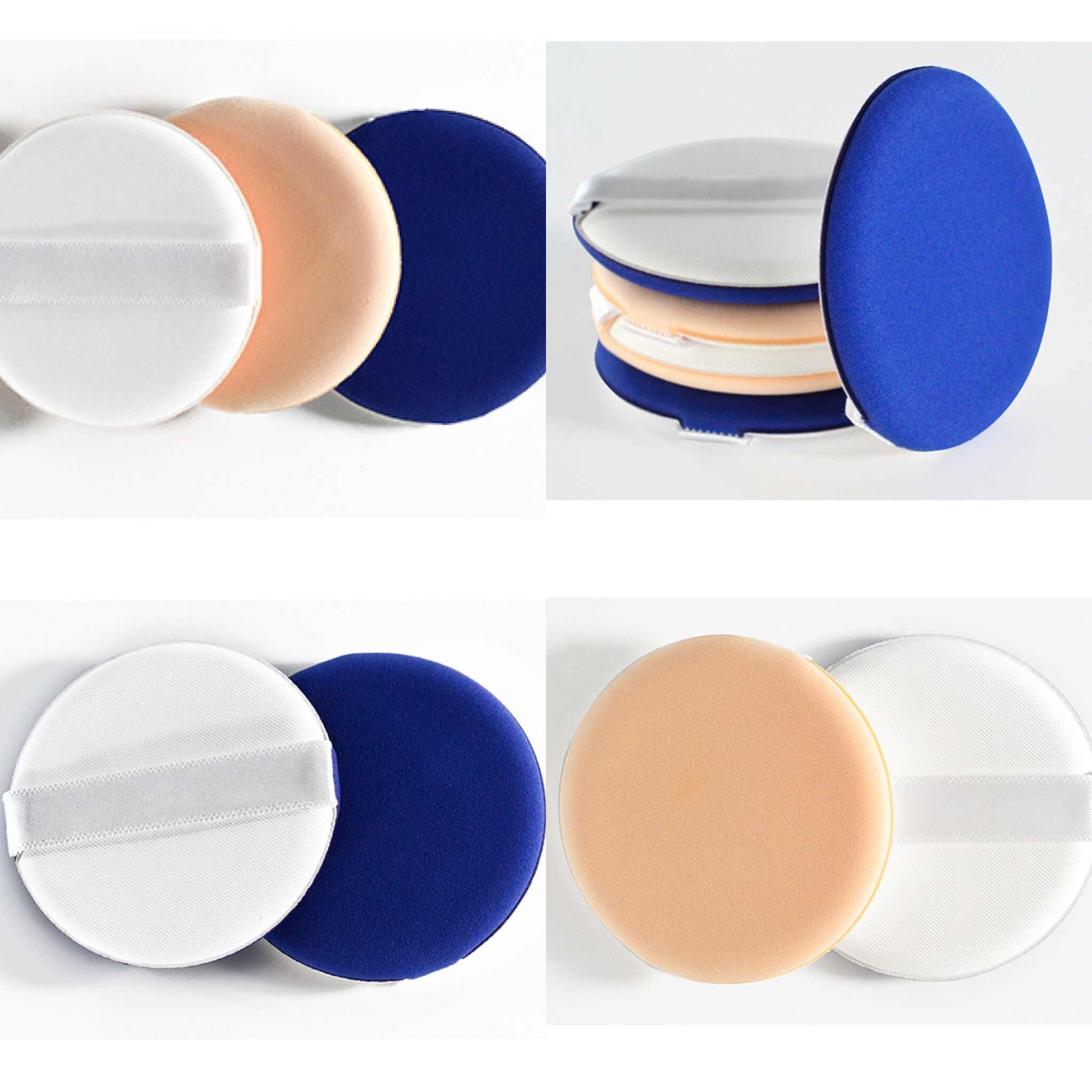Halus Flawless Facial Powder Puff Kosmetik Spons Lembut Korea Keindahan Gaya Air Cushion Puff Makeup Foundation BB Cream