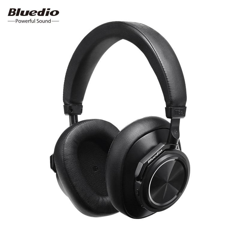 Bluedio T6S auriculares Bluetooth activa de ruido cancelación auricular inalámbrico para teléfonos y música con control de voz