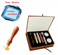 New Vintage Custom Made Your Design Personalized Letter Picture Retro Invitation Wax Seal Stamp Handle Wax
