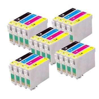 цена на 20 Compatible EPSON T1285 T1281-T1284 Ink cartridge for stylus SX130 SX420W SX435W SX445W BX305FW Printer