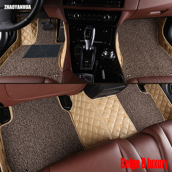 ZHAOYANHUA car floor mats for BMW 7 series E65 E66 F01 F02 G11 G12 730i 740i 750i 730d anti slip foot case rugs liners  image