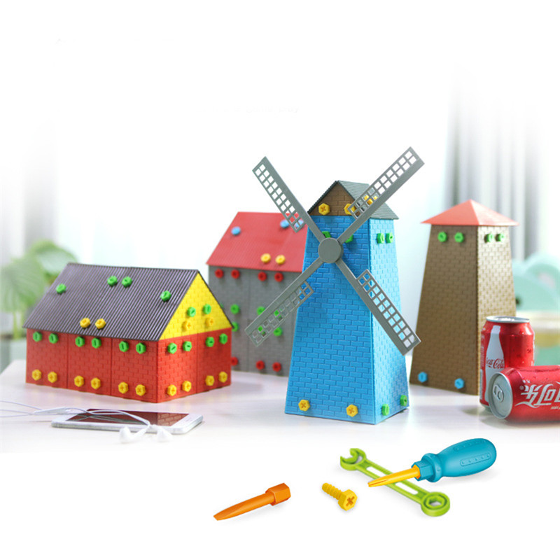3d Windmill Beacon House Simulation Model Building Kits