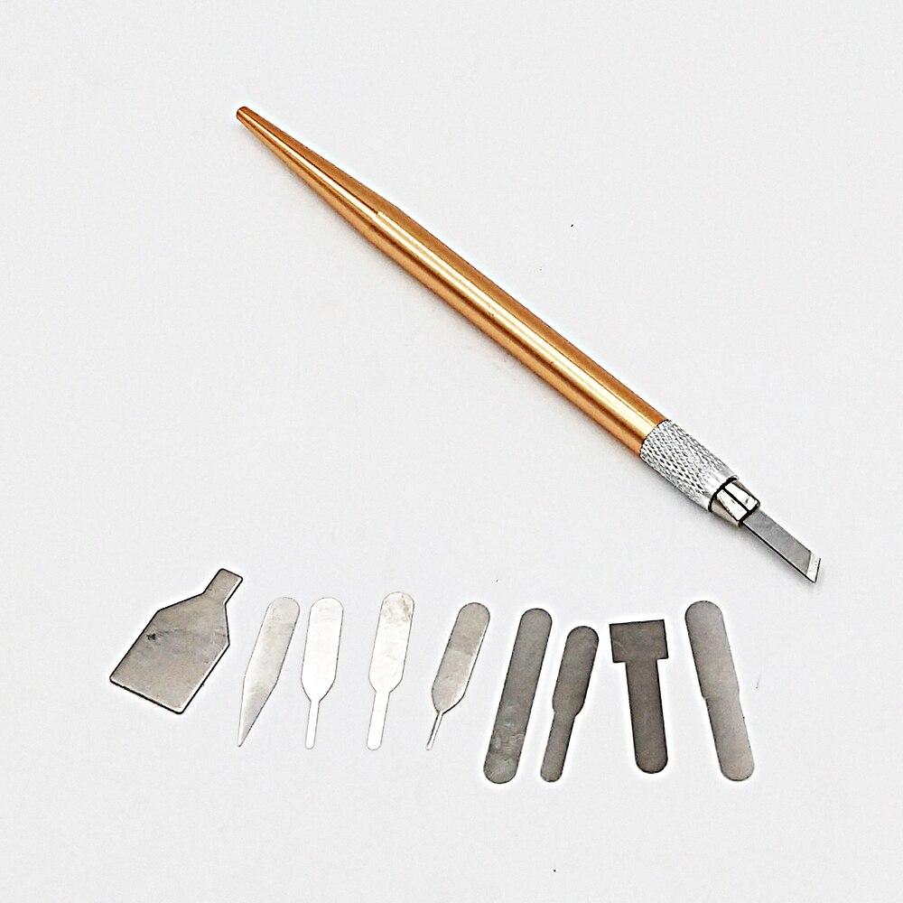 10 Blades Cutting Scalpel Sculpture Carving set iPhone,Mobile Phone Repaire tools for PCB DIY repair hand Tools