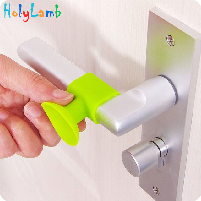3Pcs Silicone Suction Cup Door Sucker Handle Anti-collision Pad Mute Reduce Noise Baby Safety Protection Child Lock Security