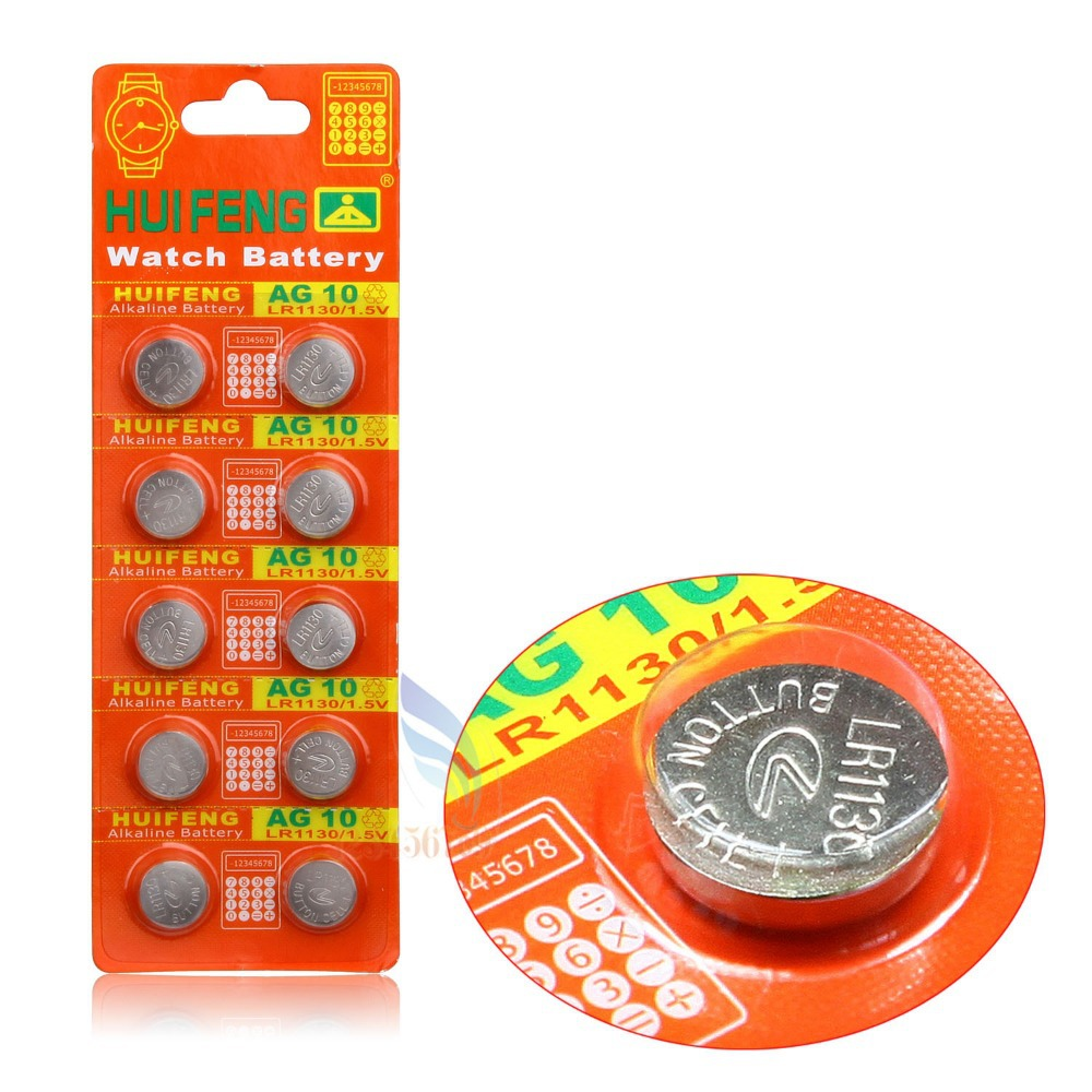 10pcs lot AG10 LR1130 389 LR54 SR54 SR1130W 189 L1130 button Cell Coin Battery for watch