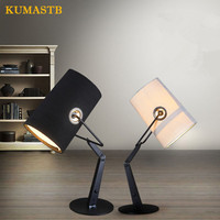 Fabric Table Lamp Modern Designer Desk Lamp For Study Bedroom Bedside Light
