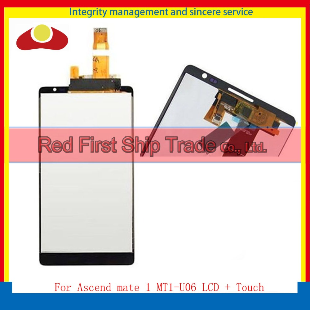 Hight Quality For Huawei Ascend mate 1 MT1-U06 Lcd Display Assembly Complete + Touch Screen Digitizer 4.7inch Black or White white lcd display touch screen digitizer glass assembly frame for huawei ascend p7 p7 l10