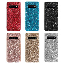 Phone Case For Samsung Galaxy S10 Lite Silicon Bling Glitter Crystal Sequins Soft TPU Cover Plus fundas