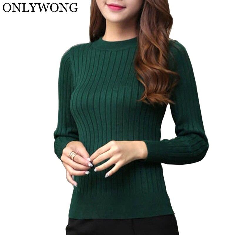 ONLYWONG Women Pullovers Sweater Long Sleeve Female Jumper