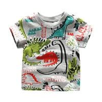 Retail Brand New Baby boy Cartoon Short T Shirts boy's Summer Kids Brand baby Child Clothing Tops Clothes Tee blouse dinosaur