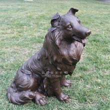 The dog dog pet dog animal sculpture bronze copper sculpture art decoration crafts jewelry gift Home Furnishing