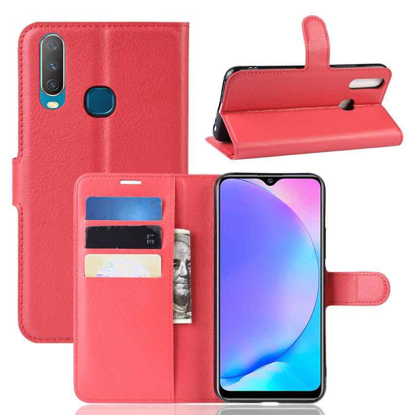 For Oppo Realme 3 Case OPPO Reno 10X Zoom Wallet Flip Business Stand Leather Capa Phone Case for Vivo Y17 y3 Cover Fundas