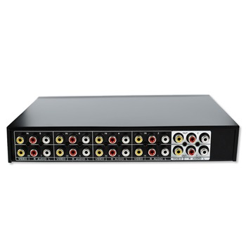 8 Ports 2 output Composite 3 RCA Video Audio AV Switch Switcher splitter Box Selector 8in 2out 8x2 for HDTV LCD DVD