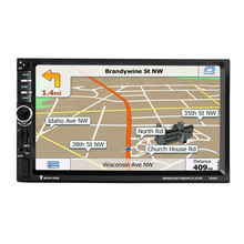 7020G de 7 pulgadas 1 DIN Pantalla Táctil de Coches Radio DVD MP5 Video Player + Rear CamBluetooth FM de Navegación GPS Volante de Control Remoto
