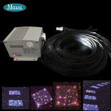Maykit Mitsubishi 60 шт. 1,5 мм черный ПВХ обшитые волоконные кабели мерцание 5 Вт Cree светодиодный светильник двигатель для волоконно-оптический светильник