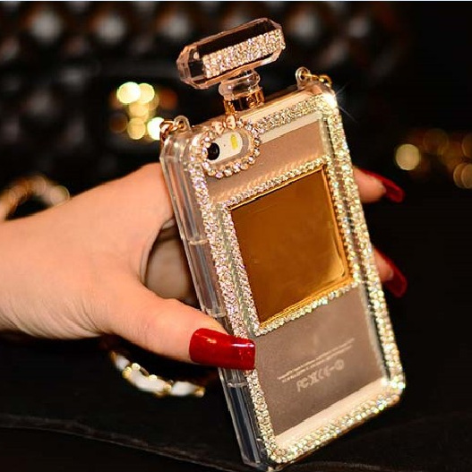 buy popular fb749 1816e US $15.98 |Luxury Crystal Bling Pearl Rhinestone Perfume Bottle Chain Case  Cover For iphone 6 6s i6plus 6splus 5s 5se 4s Lady Phone Bags-in Rhinestone  ...