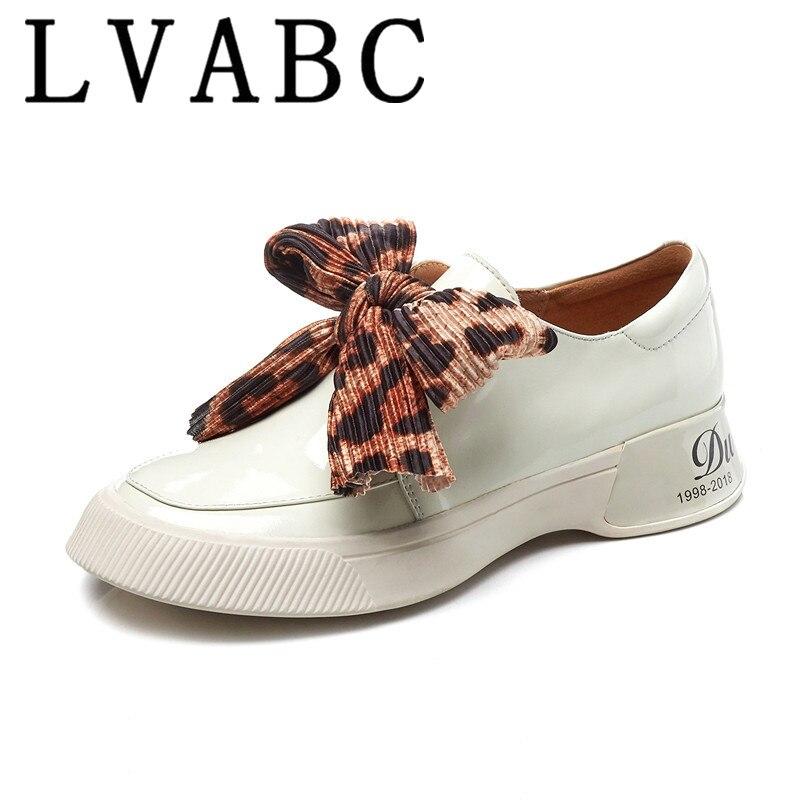LVABC 2019 big size lakleer ronde neus toenemende effen sneaker elegante platform casual vrouwen gevulkaniseerd schoenen 35 40-in Sneakers voor vrouwen van Schoenen op  Groep 1