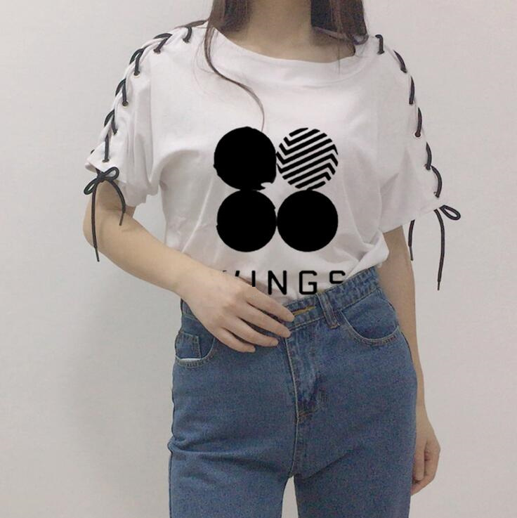 Kpop hause BTS Bangtan Boys gruppe JUNGKOOK JIMIN SUGA Die Gleiche mädchen student individualität Sommer Kurzarm t-shirt