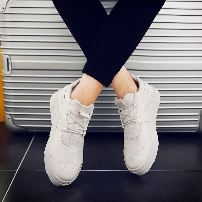 À Plein Bottes Sneakers cun Hommes Tendance Air En Belle Homme Classique De Lacets Mode White Chaussures Black Confortable Spécial Style cun Pour white Black Plates Tc1l3JKF
