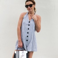 Summer Women Striped Jumpsuit Casual Sexy Club Beach Sleeveless Backless Bodycon Ladies White Romper Overalls Playsuits LT10