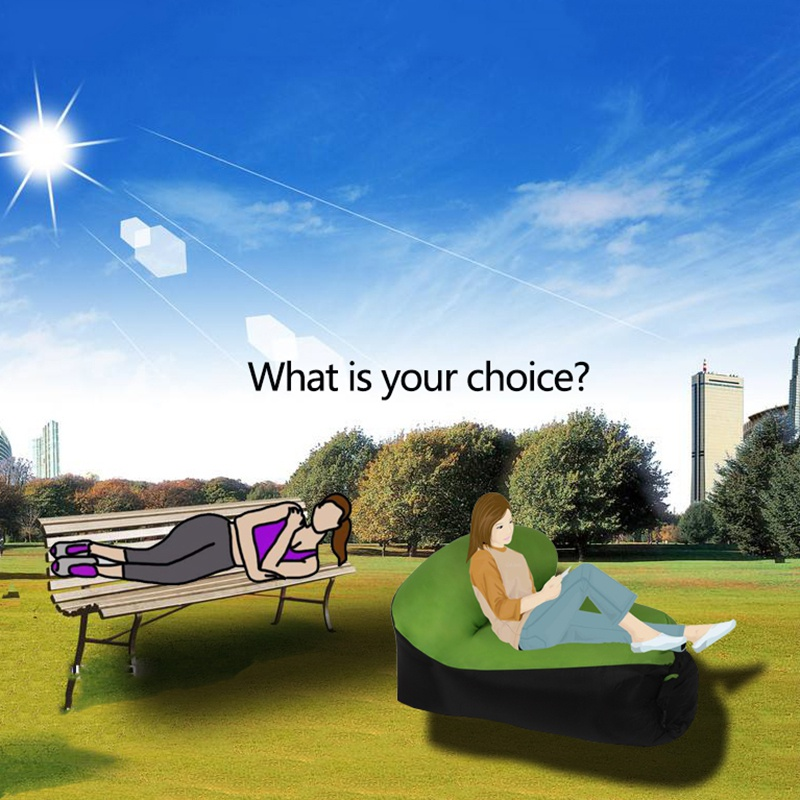 Outdoor Comfortable Lazy Inflatable Sofa Spell Color Inflatable Sofa Seat Cushion Inflatable Chair
