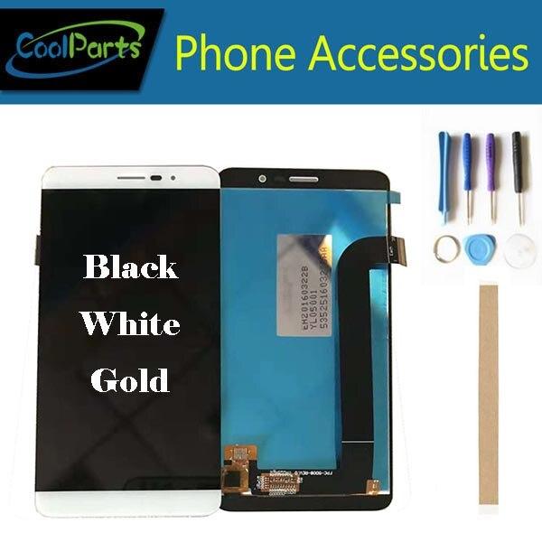 Pour Coolpad Porto S E570 Pour Coolpad E750 LCD écran de visualisation + numériseur à écran tactile Blanc Noir Or Couleur Avec Bande et Outil