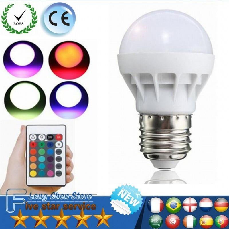 RGB LED Light E27 B22 6W/9W 16 Colors Changing Magic Lamp Spotlight Bulb With IR Remote Control Holiday Lighting Decor LED Bulbs