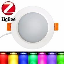 ZigBee RGBW Downlight Proyector Compatible Con Puente 1.0 y 2.0 Mando a distancia por el Tono Tono App 7 w Última Llegada