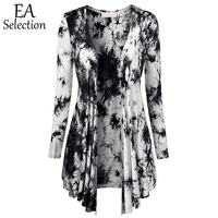 2015 New Arrival Soft Women Outwear Fashion Tye Die Autumn Long Sleeves Thin Casual Cardigans For