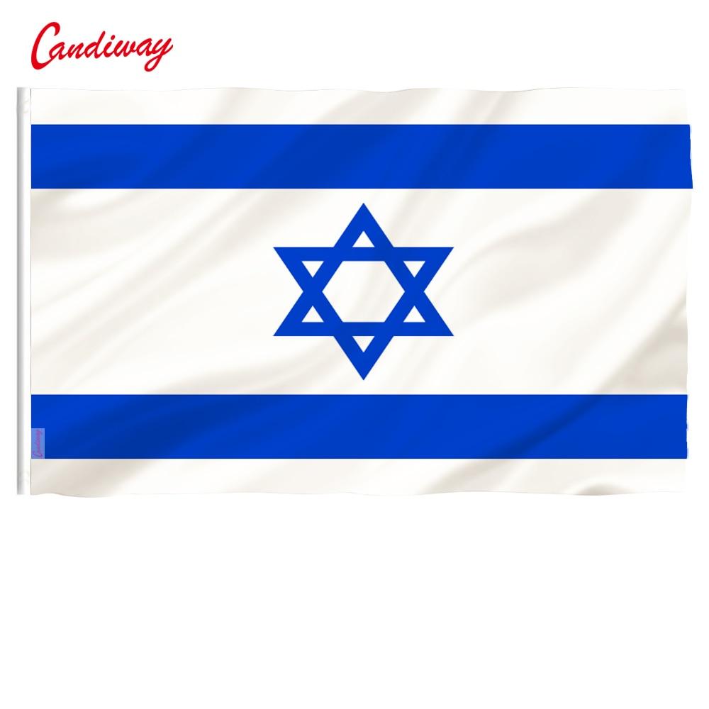 20 Pcs Israel National Flag Country Jewish Star Magen David Israeli State Banner