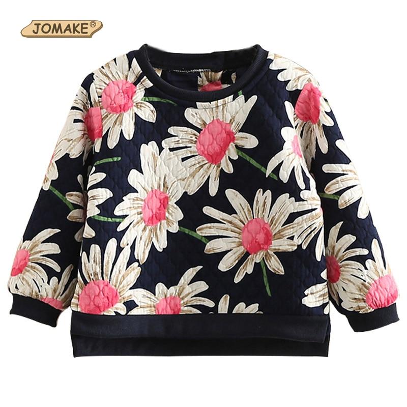 2355417dd6 Meninas do bebê Primavera Outono Blusas de Algodão Meninas Confortáveis  Camisolas Flor Bonito Floral Impresso Casual Roupas Da Moda