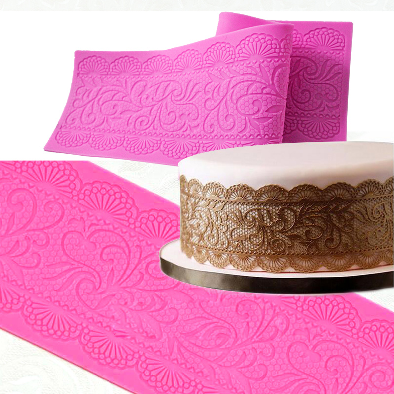 SILICONE BUTTERFLY LACE SUGAR FONDANT CAKE EMBOSSING MOULD