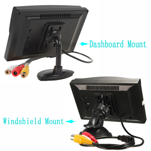 Image 3 - Hikity Car Monitor TFT LCD Color Screen 2 Video Inputs 2 Brackets For Rear View Backup Reverse Camera DVD Car Rear View Monitor