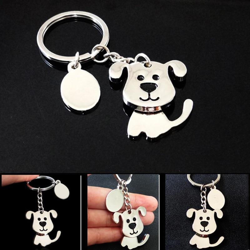 LNRRABC Men key Hot Sale Alloy Alloy Car Women Cute keychain Gifts Animal Puppy Dog 1PC New Key Chain Drop Shipping llaveros