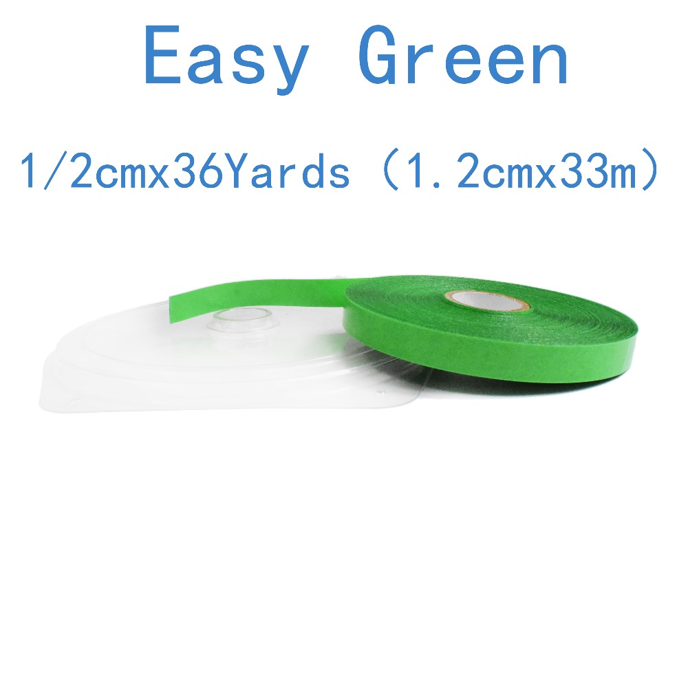 36 Yards Walker Easy Green Support Tape For Wig Toupee Tape Double Side Tape For Tape Hair Extension