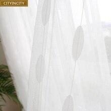 Дешевые жаккардовые занавески CITYINCITY, белый тюль для гостиной, оливковый стиль, искусственный лен, отвесные занавески для окна спальни, на заказ