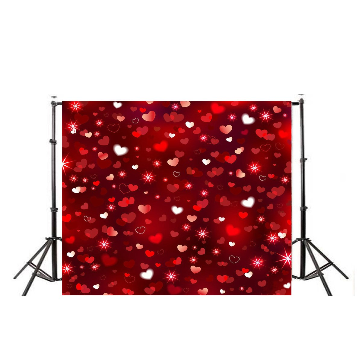 10X10FT Vinyl Love Heart Photography Backdrop Photo Background Studio Photo Props Valentine' Day Style huayi love photography backdrop scenery custom photo portrait studios background valentine s day backdrop xt4838