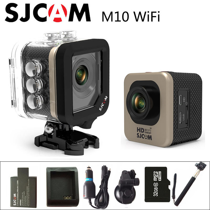Original SJCAM M10 WIFI Sports Action Camera HD 1080P 1.5 LCD CMOS Mini Camcorder DV 30M Waterproof DVR Novatek 96655 SJ Cam original eken action camera eken h9r h9 ultra hd 4k wifi remote control sports video camcorder dvr dv go waterproof pro camera