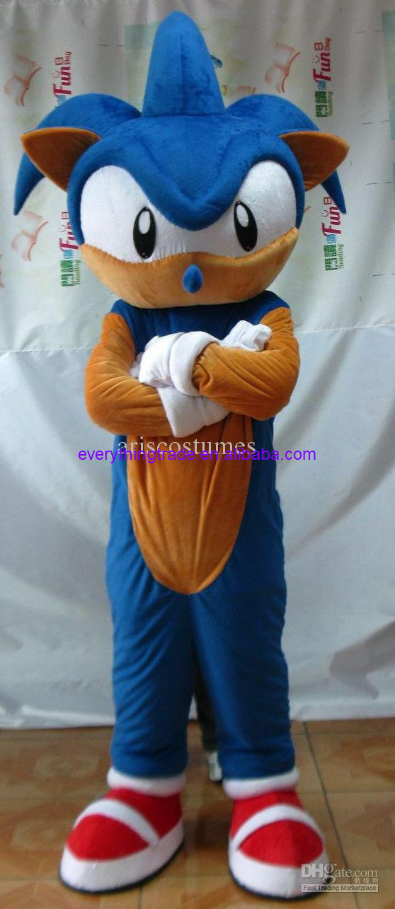 Sonic Costume Adult Sonic The Hedgehog Funny Mens Halloween Fancy Dress