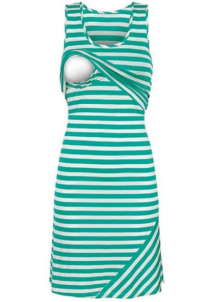 Women Summer Sleeveless Dress 2018 New Hot Striped Dresses Breastfeeding And Nursing Women Dresses Womens Tops Vestidos S-XL ...