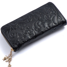 Women Genuine Leather Long Wallet (5 colors)