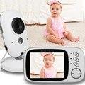 Doppler Fetal vídeo babá 3.2 polegada LCD visão Nocturna do IR 2 way falar 8 canções de ninar doppler monitor de Temperatura eletrônica baba fetal